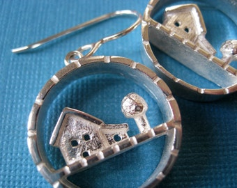 Little Yard Sterling Silver Statement Earrings