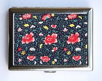Floral Pattern #3 Cigarette Case id case Wallet Business Card Holder botanical