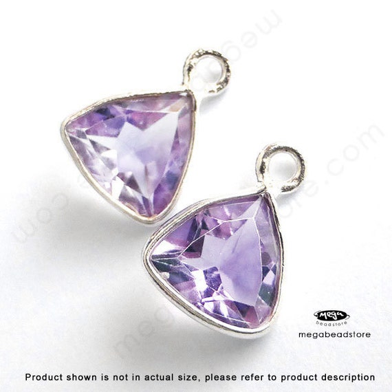 Light Purple Marble : Mm stone pink amethyst light purple triangle drop