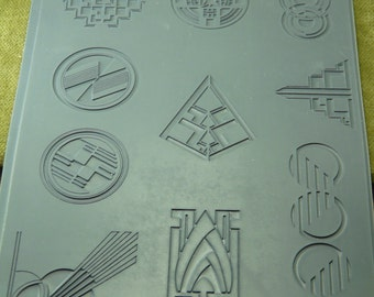 SPEAK EASY Embossed Rubber Stamp Elements for Jewelry Artists  TEX113