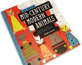 SALE Mid-Century Modern Animals coloring book