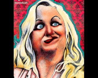 "Pint 8x10"" - Hatchet Face - Cry Baby Kim McGuire John Waters Johnny Depp Pop Art Blonde Comedy Cult Movie Classic Rockabilly Drape Blonde"
