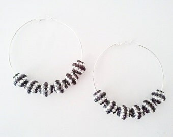 Basketball Wives inspired rhinestone hoop earrings