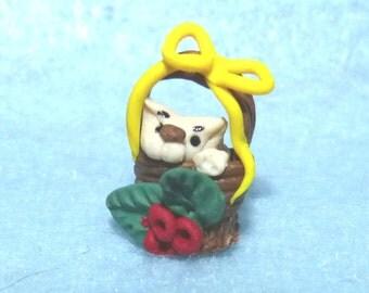 cat miniature OOak handmade   dolls house,