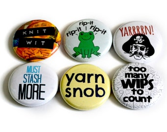 Gift for Knitters - Knitting Pins or Knitting Magnets - Awesome Knitting Gift! (3rd set)