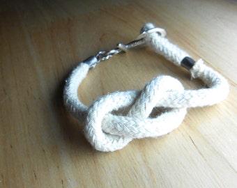 Anchor Bracelet - Beach Glass Friendship Jewelry - KNOTTY BOY
