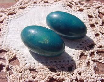 Sun Kissed Teal Vintage Lucite Beads