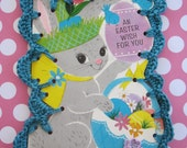 An Easter Wish For You / Crochet Vintage Easter Card Ornament