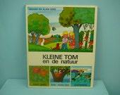rare vintage 70s children's book by Gérard & Alain Gree , kleine Tom in de natuur.