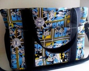 Batman Diaper Bag - Messenger Bag - Extra Large diaper Bag - Nappy Bag - Batman Bag - Diaper Bag - DC Comics - School Bag