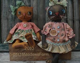 Primitive Cat Doll Pattern Meow Mix