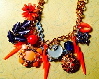 Chunky OKC Thunder Vintage Charm Necklace