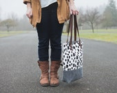 Dotted Brush Stroke Tote-MADE TO ORDER