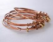 Bangle Bracelet - Stacking Bangle Bracelets - Copper Bracelet - Stacking Bracelet - Layering Jewelry - Layered Bangle Bracelets - B1063