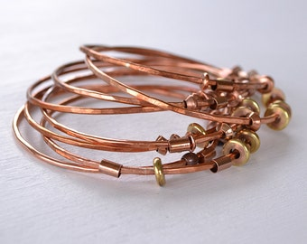 Bangle Bracelet - Stacking Bangle Bracelets - Copper Bracelet - Stacking Bracelet - Layering Jewelry - Layered Bangle Bracelets - B1063