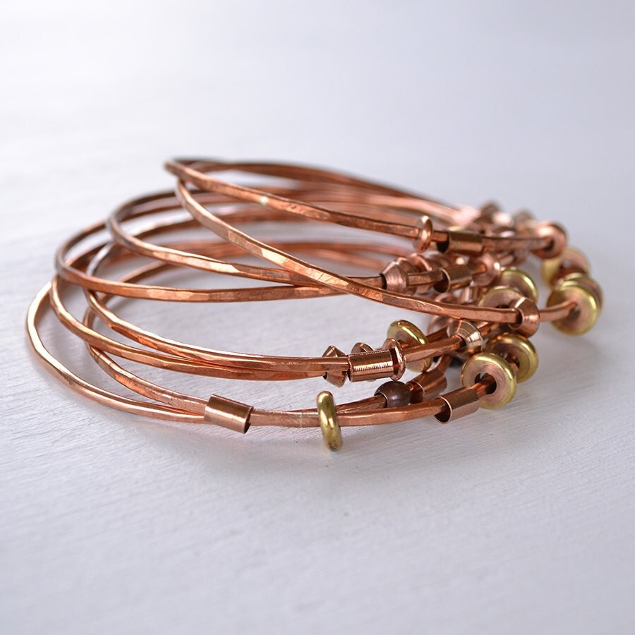 Bangle Bracelet Stacking Bangle Bracelets Copper Bracelet