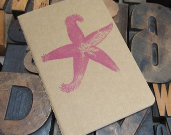 Pink Starfish Lined Notebook