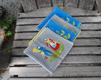 Vintage Cloth Napkins (4)