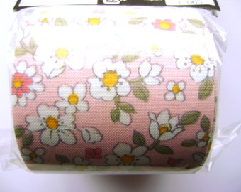 Japanese Fabric Tape  Flowers Cherry Blossoms Plum Blossoms Pale Pink
