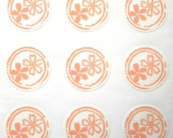 Japanese Stickers Cherry Blossoms Flowers Washi Paper (S209) Traditional Design Stickers