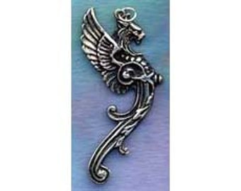 Griffin Gryphon In Sterling Silver GORGEOUS Pendant Fan014