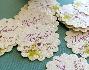 Hawaiian Party Favor Tags, sets of 32