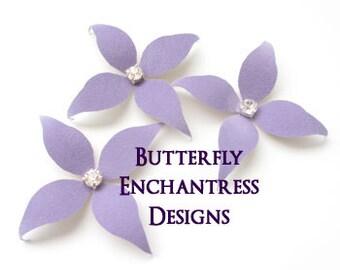 Flower Hair Accessories, Bridal Hair Flowers, Purple Wedding Bridesmaid Gift - 3 Lavender Wynn Flower Hair Pins