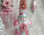 Shabby Sweet SANTA Pink Bottle Brush Tree ECS sct schteam SVFTeam