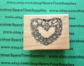 DEL-F522 Country Wreath - Mounted rubber Stamp