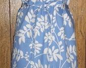 Apron Robert Allen cotton floral full size large pocket long ties adjustable