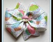 LiliBug Birthday Cupcake Hair Bow