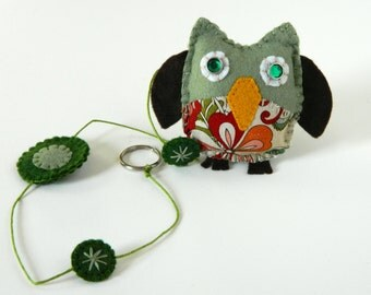 Single String Wool felt Owl Mobile