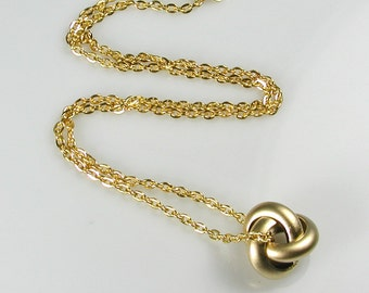 Gold Knot Pendant Necklace