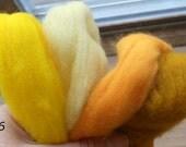 Roving Wool, Spinning Fiber in Organic Earth Tones for Needle Felting, Wet Felting, Needle Craft, Animal and Dolls, Destash