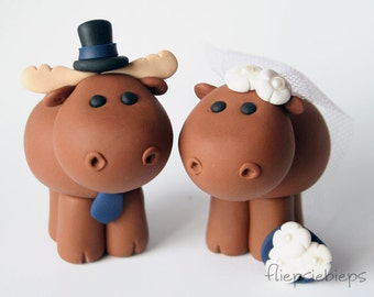 Custom Moose Cake Topper Wedding
