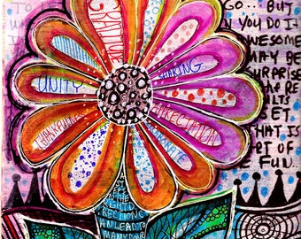 Be True flower flowers journal words inspire doodle