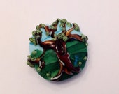 SRA Handmade Lampwork Glass Focal Bead (1) Lily Bug Beads - Old Oak Tree