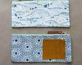 Long Purse - Narwhal and Hexagon - Handmade Purse