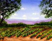 Vineyard ACEO Folk Art PRINT of Todd Young painting
