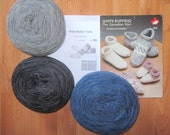 SOCKS and SLIPPERS Knitting Kit Cowichan style pure Canadian WOOL multisize from RaincoastStudio on Etsy