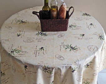 Round Tablecloth,  French Provence Tablecloth, Olive Oil Tablecloth