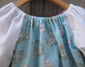 SALE Upcycled fabric nightie bunnies size 2T