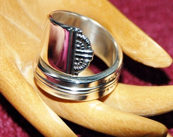 Silver Spoon Ring, size 8-13 Arched