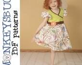 Sunny Day Knit Dress PDF eBook Pattern INSTANT DOWNLOAD
