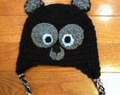 Brave Merida Bear crochet beanie skullcap hat with earflaps-all sizes available newborn through adult