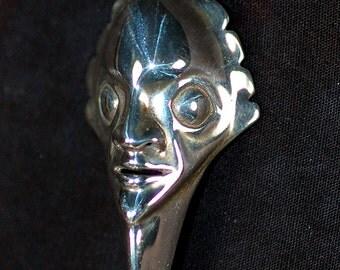 Sterling Silver Raven Man Pendant