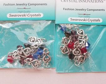 Swarovski Crystal Filigree Drops