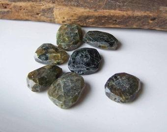 Labradorite Beads, Labradorite Nuggets, Rough Hewn Beads, Dark Chartreuse Beads, Etsy, Etsy Jewelry