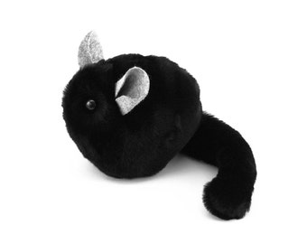 Stuffed Chinchilla Stuffed Animal Cute Plush Toy Chinchilla Kawaii Plushie Ebony the Black Chinchilla Cuddly Faux Fur Toy Small 4x5 Inches