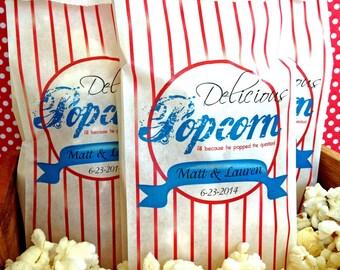 Popcorn Bar, Personalized Popcorn Bags, Wedding Popcorn bags,  Popcorn Bar Supplies,Tall Favor bags, Birthday party, Sweets, Treats